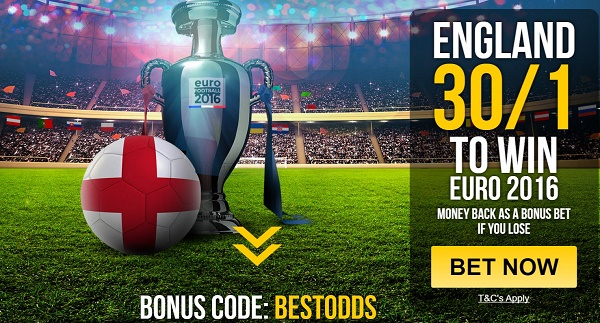 enhanced odds on england to win euro 2016